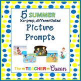 5 Summer No-Prep, Differentiated Picture Prompts for Writing