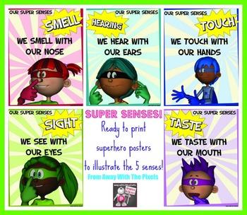 5 Superhero Senses Posters - Ready to Print!
