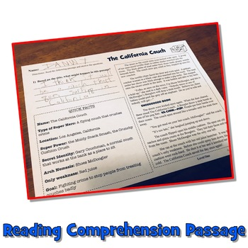 5 Summer Reading Comprehension Passages and Questions: Superheroes Reading