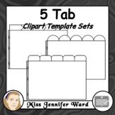 5 Tabs : Book Clipart Sets