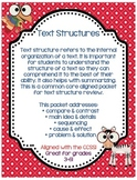 5 Text Structure Posters & Teaching Packet w/ Quiz & Answers!