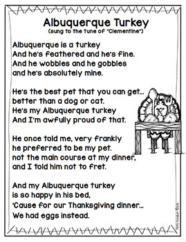 Thanksgiving Poem Activities-Turkeys, Thanksgiving Feast, Pilgrims, and Indians