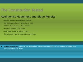 5. The Civil War - Lesson 2 of 8 - Abolitionist Movement