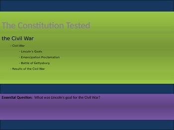 5. The Civil War - Lesson 6 of 8 - Civil War