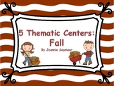 5 Thematic Math Centers:  Fall