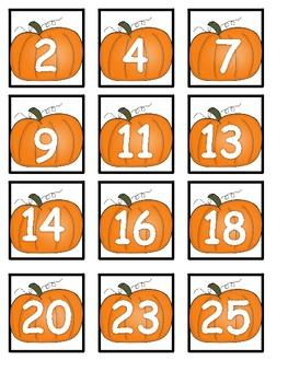 5 Thematic Math Centers:  Pumpkins