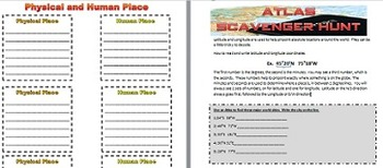 5 Themes of Geography Activities and Note Pages