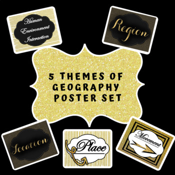 5 Themes of Geography    Black and Gold Theme