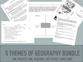 5 Themes of Geography Bundle