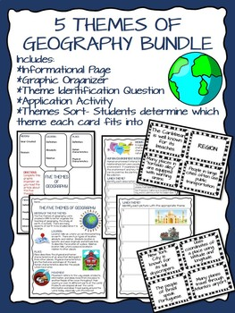 5 Themes of Geography Bundle; Social Studies; Informationa