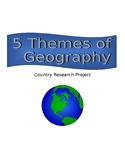 5 Themes of Geography Country Research Project
