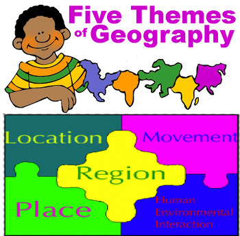 5 Themes of Geography DAILY LESSON PLANS FOR ENTIRE UNIT with TEST