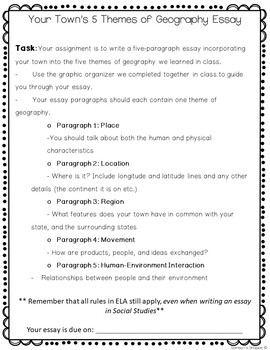 Five themes of geography essay higher gcse mathematics for ocr homework book answers