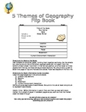 5 Themes of Geography Flip Book w/ Rubric