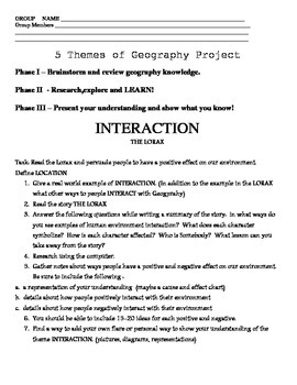 5 Themes of Geography Group Project