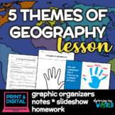Five Themes of Geography Lesson - Notes, Slideshow, & Grap