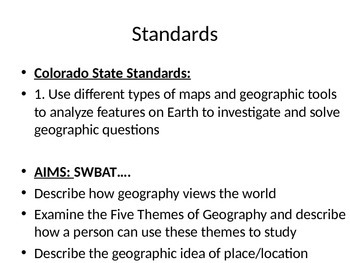 5 Themes of Geography Location