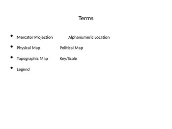 5 Themes of Geography: Location Maps