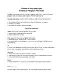 5 Themes of Geography Meography Poster