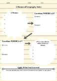5 Themes of Geography Note Sheet- Arizona Specific