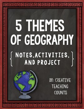 6th grade geography scaffolded notes resources lesson plans 5 themes of geography notes activity and a project fandeluxe Image collections