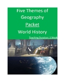 5 Themes of Geography Packet - 1 Week!