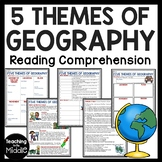 Five Themes of Geography Reading Comprehension Worksheet a