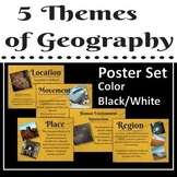 5 Themes of Geography Poster Set