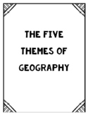 5 Themes of Geography [Posters + Project]
