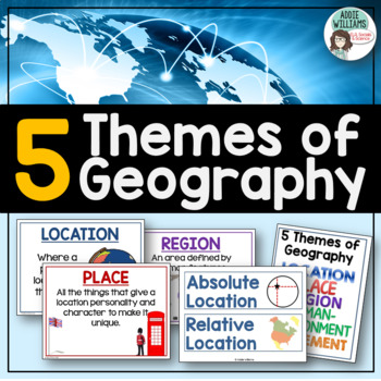 Five Themes of Geography Posters and Word Wall