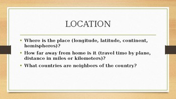 5 Themes of Geography Power point
