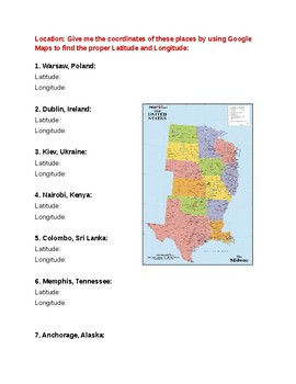 5 Themes of Geography Review Worksheet