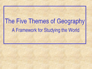 5 Themes of Geography Slideshow