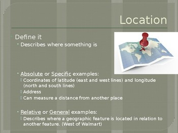 5 Themes of Geography Slideshow Presentation
