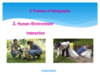 5 Themes of Geography - Social Studies