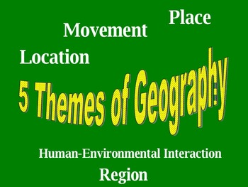 5 Themes of Geography Student Learning Groups