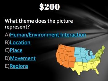 5 Themes of Geography:  Trivia Game!  Fun Stuff