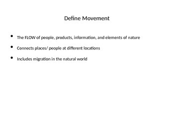 5 Themes of Geography movement and region including Climate and Biomes