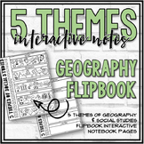 5 Themes of Social Studies Doodle Flipbook Pages
