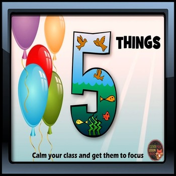 Focusing Students: 5 Things Activity