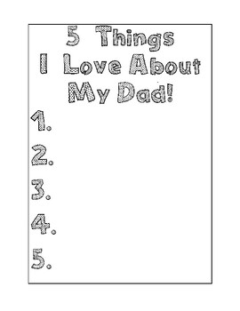 5 Things I Love About Dad/Grandpa
