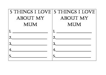 5 Things I Love About My Mum