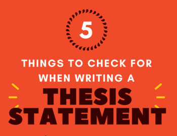 5 Things to Consider When Writing a Thesis Statement