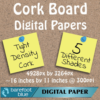 5 Tight Grain Cork Board Backgrounds Digital Papers High Resolution