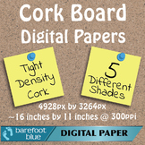 5 Tight Grain Cork Board Backgrounds Digital Papers High R