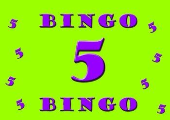 Five Times Table Bingo - Class Set (30)