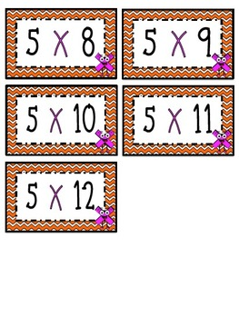 """""""5"""" Times Table Flash Cards"""