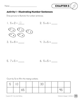 Skip Counting & Multiplying by 5 - Song w/ Lyrics & Activities (Common Core)