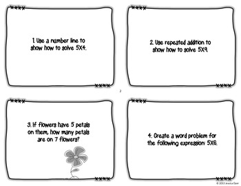 5 Times Table Task Cards