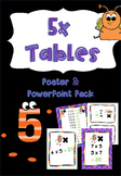 5x Multiplication Facts PowerPoint, Flash Cards, Posters, Student Reference